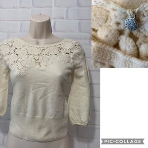 ANTHROPOLOGIE Knitted & Knotted Wool Sweater